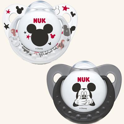 NUK | Chupeta Mickey Mouse (Látex, 6-18m) x 2