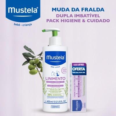 Mustela | Linimento Higiene Zona da Fralda 400ml + Oferta Creme Zona da Fralda 1 2 3 50ml