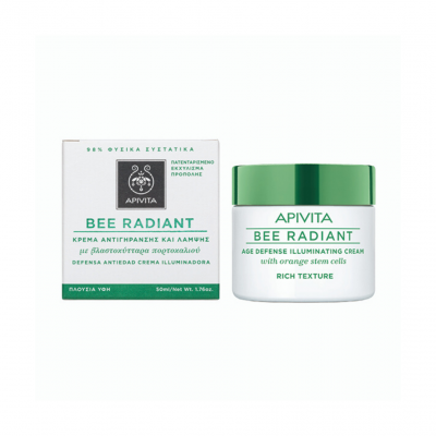 Apivita | Bee Radiant Creme Iluminador Textura Rica 50ml