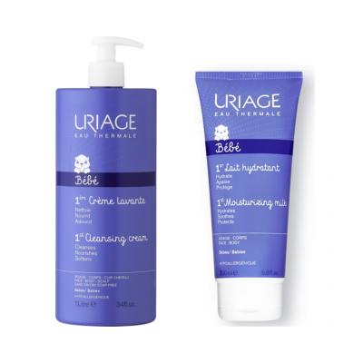 Uriage | Bébé 1º Creme Lavante 500ml + Leite Hidratante 200ml