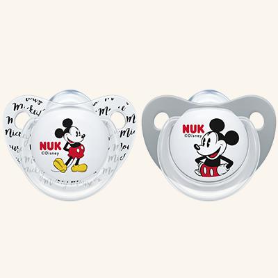 NUK | Chupeta Mickey Mouse (Silicone, 0-6m) x 2