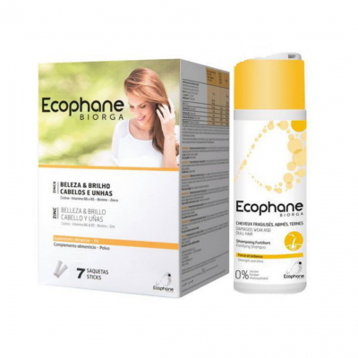 Ecophane | 30 Saquetas Pó (Oferta Champô Fortificante 100ml)