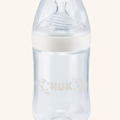 NUK | Biberão NUK Nature Sense em vidro 240 ml (Silicone, 0-6m)