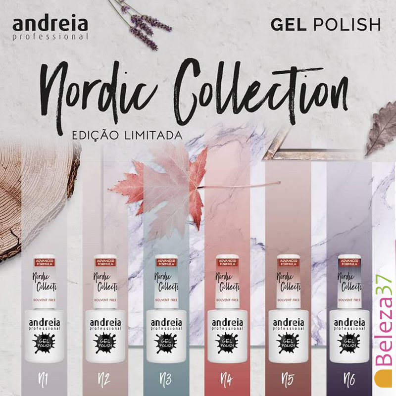 "Verniz Gel Andreia – 6 Cores ""Nordic Collection"""