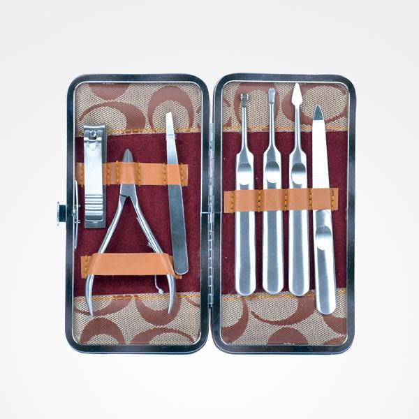 Kit de manicura de 7 peças - Castanho