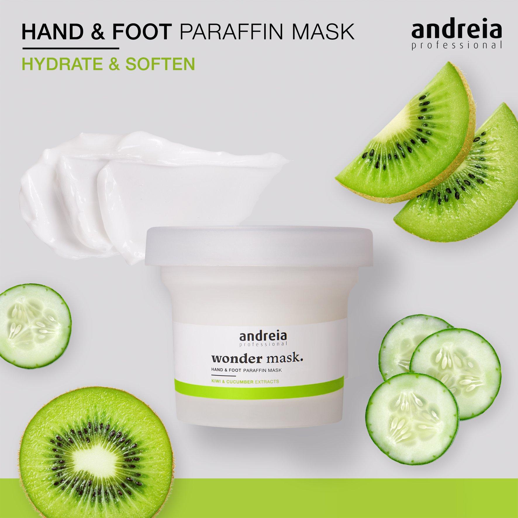 Wonder Mask Andreia - Máscara de parafina para mãos e pés 200ml