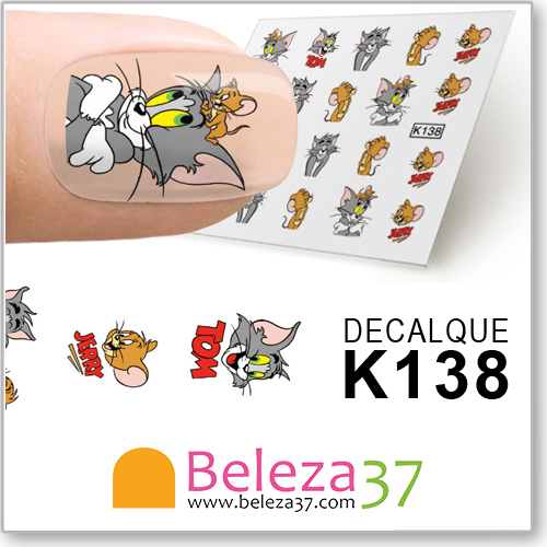 Decalques do Tom & Jerry (K138)