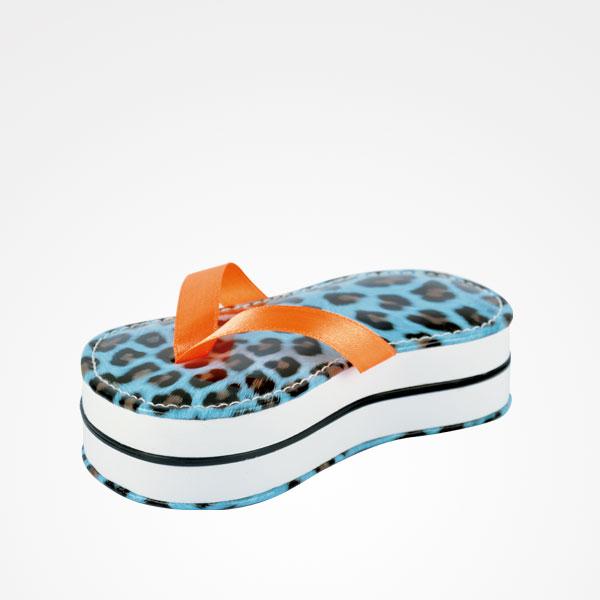 Kit de manicura Flip Flop com 5 peças - Leopardo