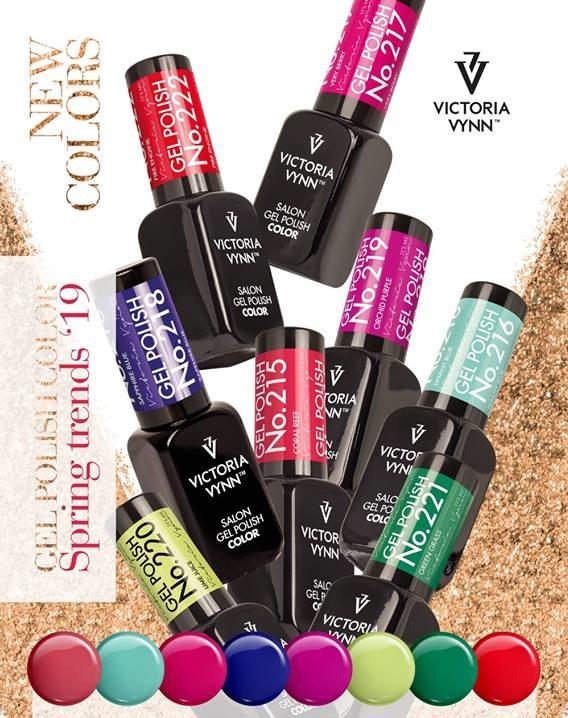 Verniz Gel Victoria Vynn - Coleção Primavera 2019 (Kit 7 Cores)