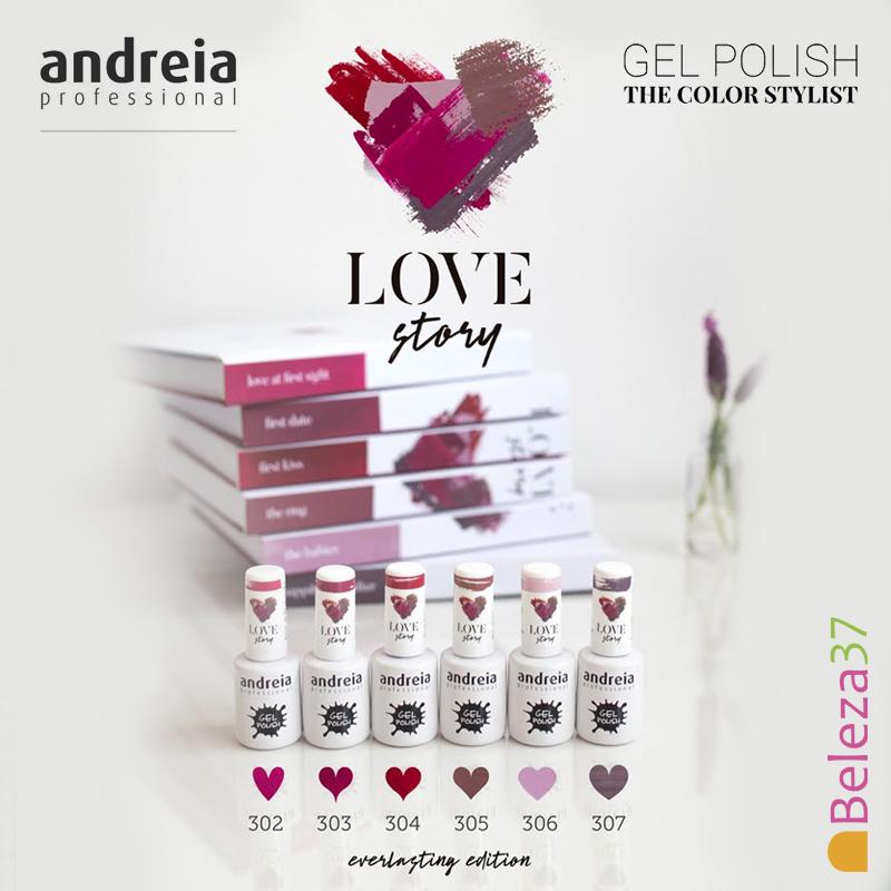 """Verniz Gel Andreia – 6 Cores da Coleção """"LOVE STORY"""""""