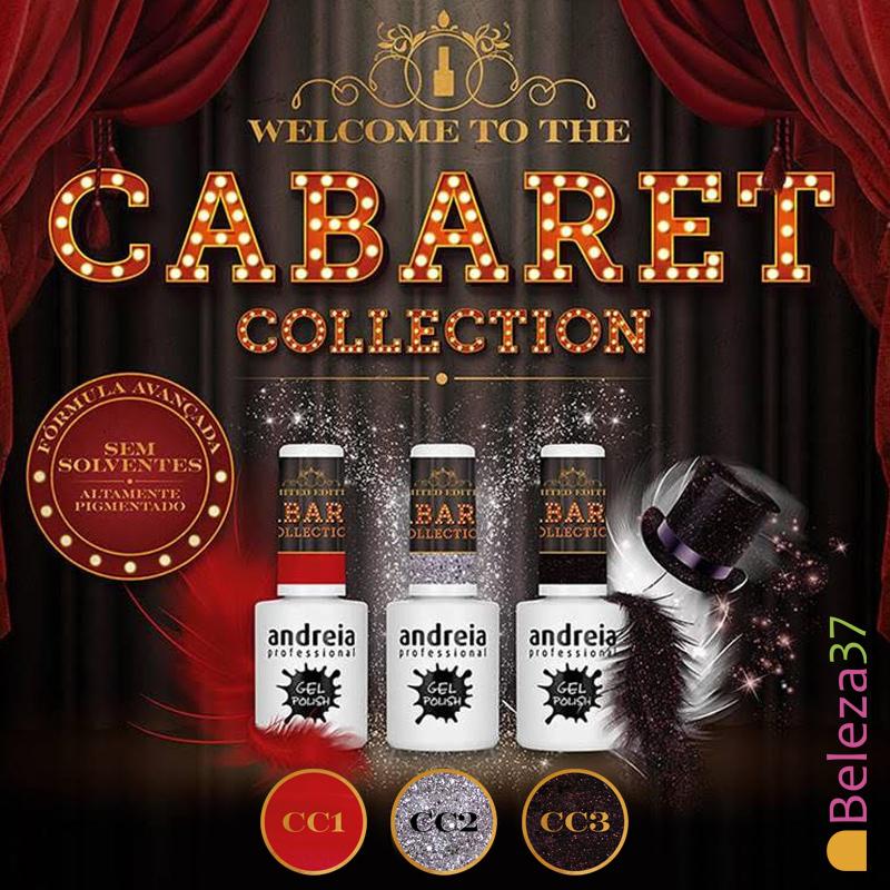 """Verniz Gel Andreia – 3 Cores """"Cabaret"""" (Edição Limitada)"""