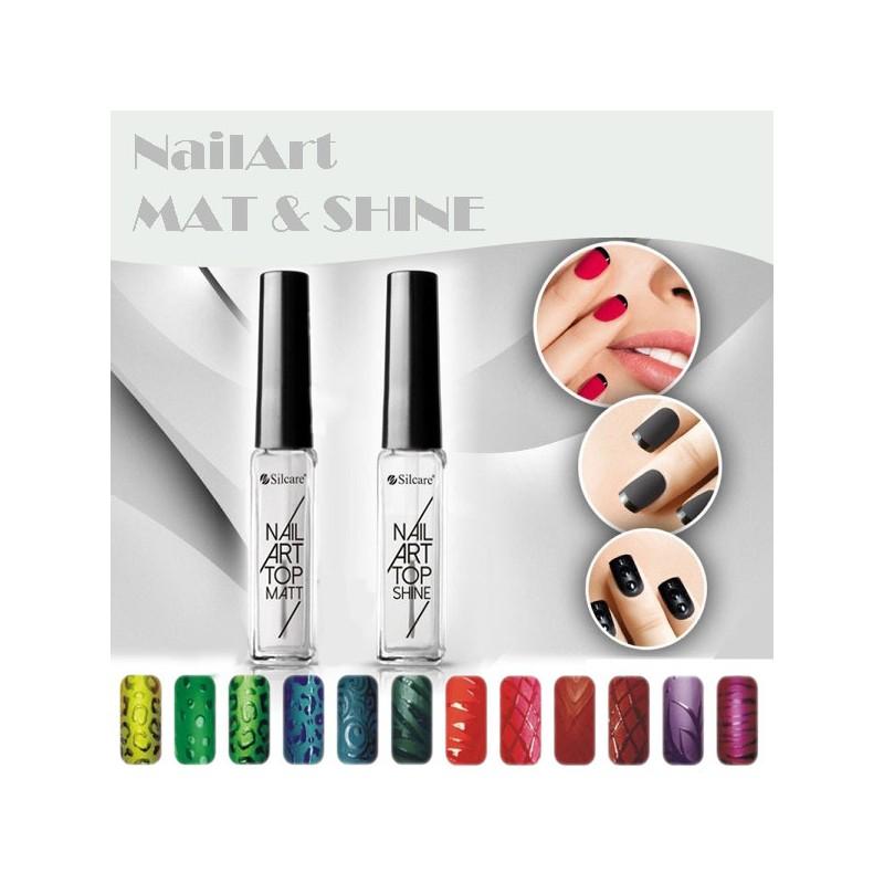 Nail Art Top Kit: Mate + Brilho da Silcare
