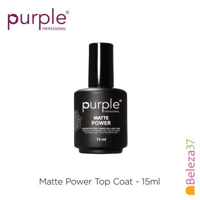 Matte Power Top Coat PURPLE 15ml
