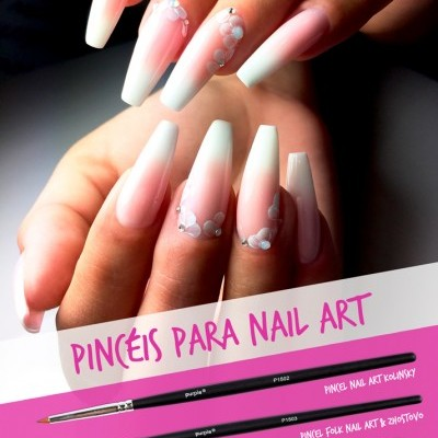 Pincel Nail Art Purple
