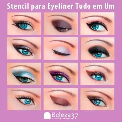 Stencil para Eyeliner Tudo em Um