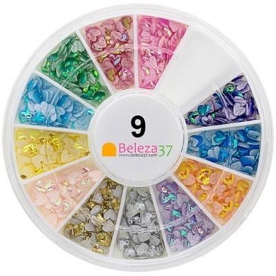 Roda 9 – Corações Iridescentes em 12 cores