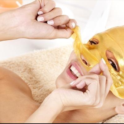 Máscara Facial de Anti Envelhecimento em Colagénio Ouro 24K