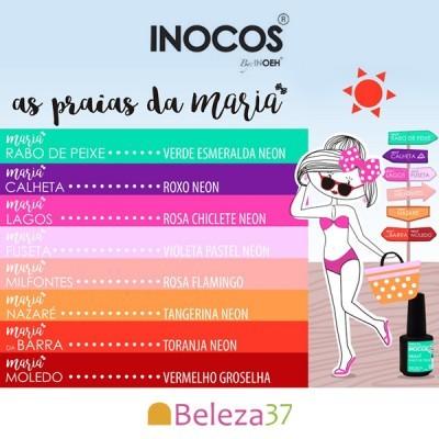 """Verniz Gel Inocos – Coleção """"As Praias da Maria"""" (8 cores 15ml)"""