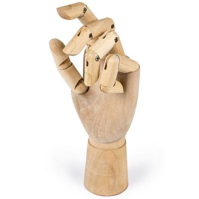 Mão de treino articulada em madeira