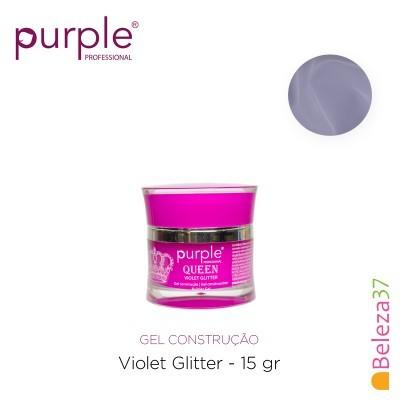 Gel Construtor Purple Queen Violet Glitter – Violeta Transparente com Glitter 15g