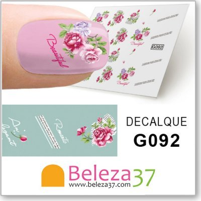Decalques com Flores (G092)