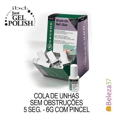 IBD 54006 –Cola de Unhas Com Pincel 5 seg. 6g