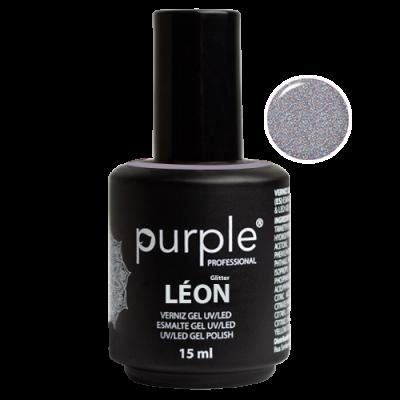 Verniz Gel PURPLE 1491 – León (Prata Glitter holográfico Intenso)