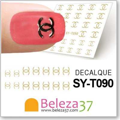 48 Decalques com o Símbolo da Chanel (SY-T090)