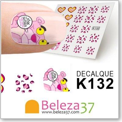 Decalques da Pantera Cor de Rosa (K132)