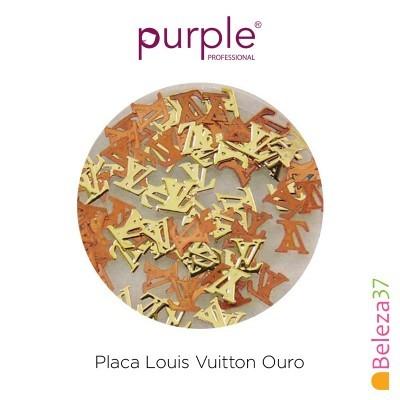 Placa Louis Vuitton Ouro