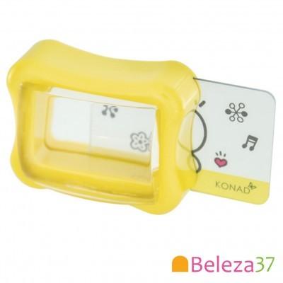 Carimbo Transparente e Raspador KONAD Clear Gelly Stamp Set