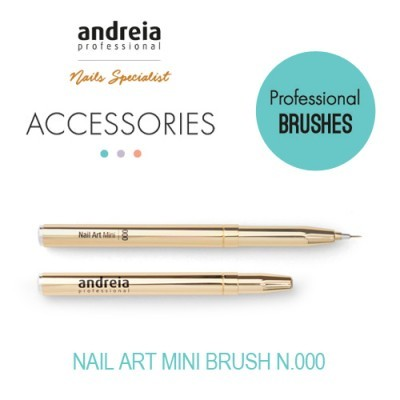 Pincel Nail Art Mini Andreia n.º 000