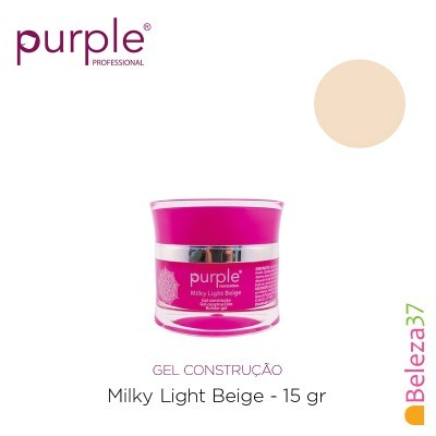 Gel Construtor Purple Milky Light Beige – Beige Claro Leitoso 15g
