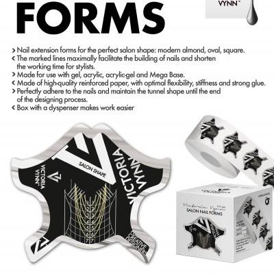 Salon Nail Form Black - Moldes para Extensões VV