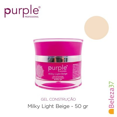Gel Construtor Purple Milky Light Beige – Beige Claro Leitoso 50g