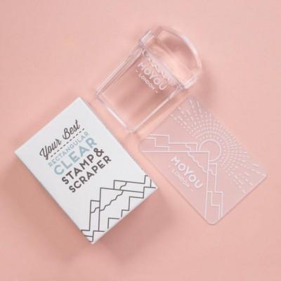 Carimbo de Silicone Retangular Transparente da MoYou