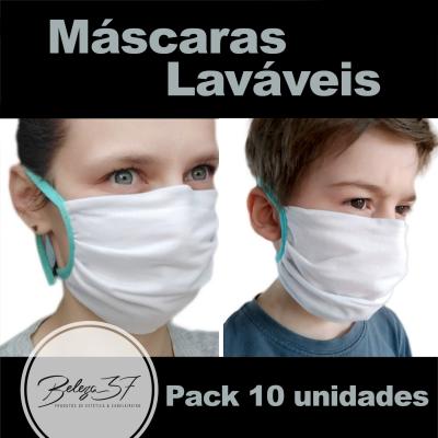 Máscaras de Proteção em Tecido Lavável - 10 peças