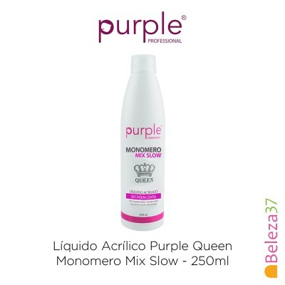 Líquido Acrílico Purple Queen 250ml - Monomero Mix Slow (Secagem Lenta)