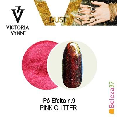 Pó Efeito Victoria Vynn n.9 Pink Glitter (Rosa Glitter)
