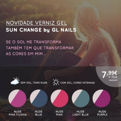 Verniz Gel Sun Change GL Nails 11ml