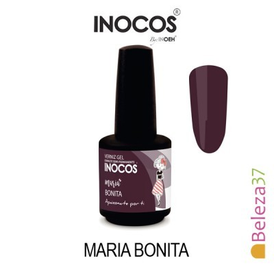 Verniz Gel Inocos 163 – Maria Bonita (Bordeaux Cereja)