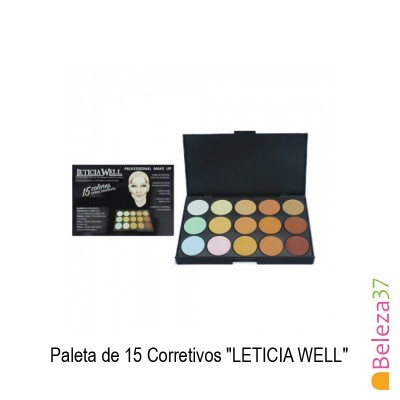 "Paleta de 15 Corretivos ""LETICIA WELL"""