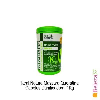 Máscara Real Natura - Queratina Cabelos Danificados 1Kg