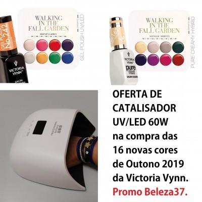 Coleção 16 Cores Outono 2019 Victoria Vynn com OFERTA de Catalisador UV/LED 60W (ENVIO EM 4 DIAS)