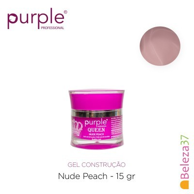 Gel Construtor Purple Queen Nude Peach – Pêssego 15g