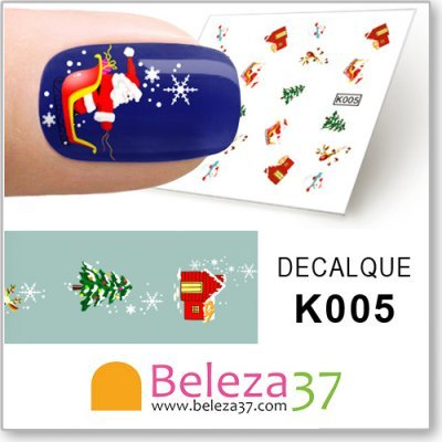 Decalques Divertidos de Natal (K005)