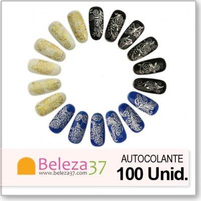 100 Autocolantes 3D em OURO