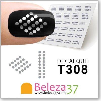 Decalques das Bolas Prateadas (T308)