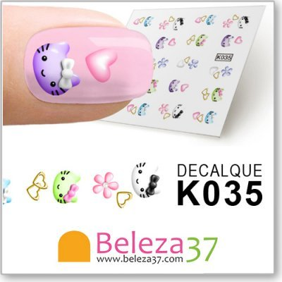 Decalques com Hello Kitty (K035)