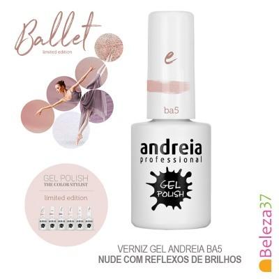 Verniz Gel Andreia Ba5 – Nude com reflexos de brilhos